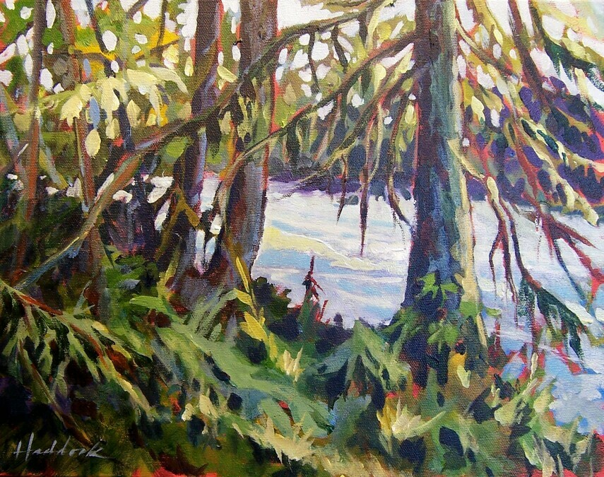 perry haddock plein air gallery just watchin it go by