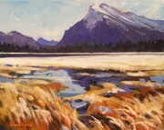 Study, Mt. Rundle from Vermilion Lake